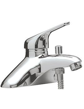 Sagittarius Prestige Deck Mount Single Lever Bath Shower Mixer Tap With Kit
