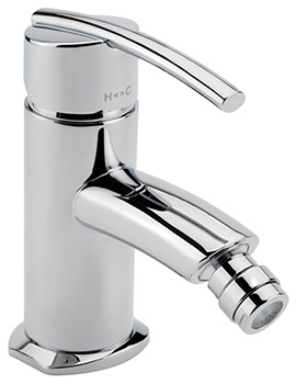 Sagittarius Pure Monobloc Bidet Mixer Tap With Pop-Up Rod Waste