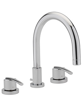 Sagittarius Pure 3 Hole Deck Mounted Bath Filler Tap