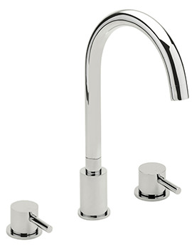 Sagittarius Piazza 3 Hole Deck Mounted Bath Filler Tap