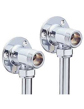 Sagittarius Pair Of Wall Plate Elbows For Exposed Shower Valve