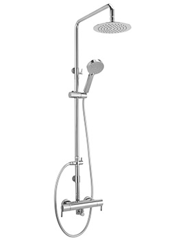 Sagittarius Pure Exposed Thermostatic Shower Valve With Rigid Riser Kit