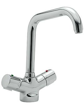 Sagittarius Questflo Thermostatic Monobloc Kitchen Sink Mixer Tap