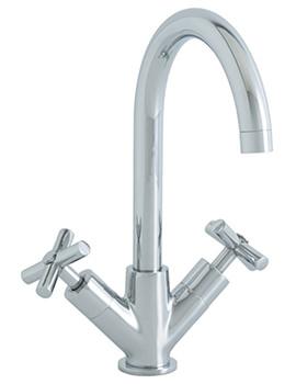 Astracast Ocean Monobloc Kitchen Sink Mixer Tap With Twin Cross Handles