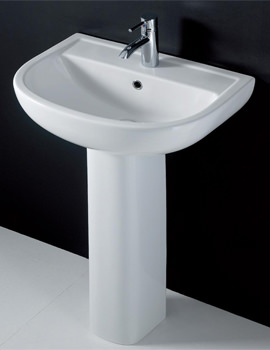 RAK Compact 550mm 1 Tap Hole Basin And Full Pedestal