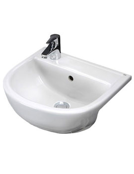RAK Compact 400mm Single Tap Hole Semi Recessed Basin