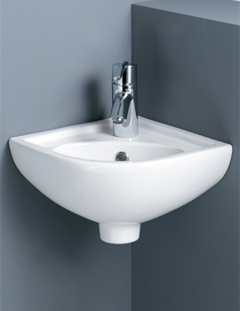 RAK Compact Corner Basin Wall Mounted - W 440 x 360mm