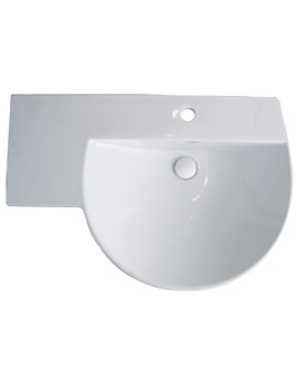 RAK Reserva 750mm Winged Basin With Left Hand Shelf