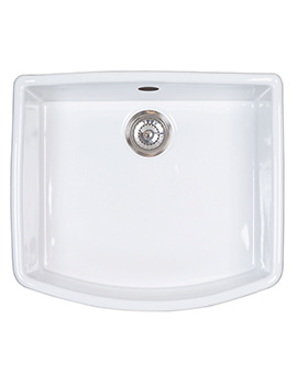 Astracast Edinburgh Gloss White Ceramic Finish Sit-In Sink - 1.0 Bowl