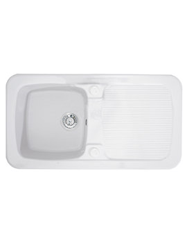 Astracast Aquitaine Gloss White Ceramic Inset Sink - 1.0 Bowl