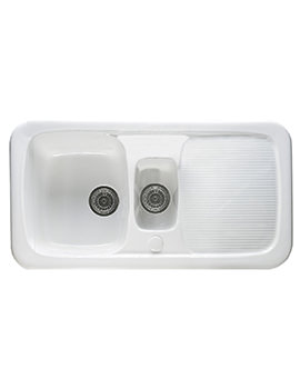 Astracast Aquitaine Gloss White Ceramic Inset Sink - 1.5 Bowl