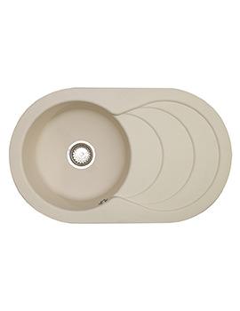Astracast Cascade ROK Granite Sahara Beige Inset Sink - 1.0 Bowl