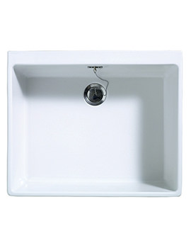 Astracast Sudbury Gloss White Ceramic Sit-In Sink - 1.0 Bowl