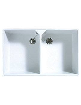 Astracast Sudbury Gloss White Ceramic Sit-In Sink - 2.0 Bowl