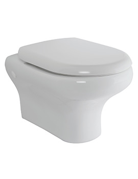 RAK Compact Wall Hung WC Pan With Soft Close Seat 520mm