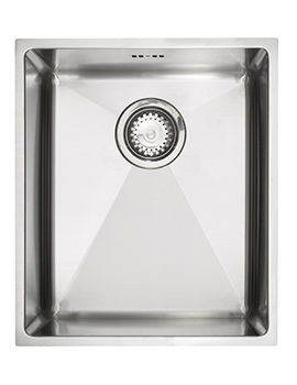 Astracast Onyx 4034 Brushed Stainless Steel Flush Inset Sink - Medium Bowl