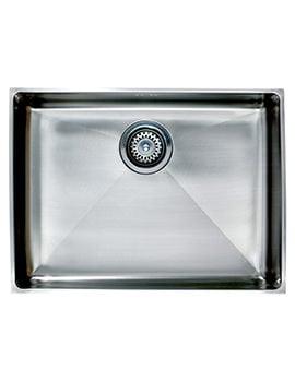 Astracast Onyx 4054 Brushed Stainless Steel Flush Inset Sink - Large Bowl