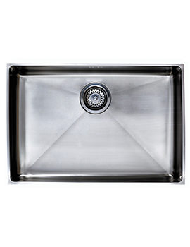 Astracast Onyx 4070 Brushed Stainless Steel Flush Inset Sink - Large Bowl