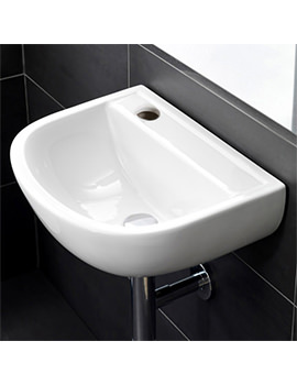 RAK Compact Special Needs 380mm Wall Hung Basin