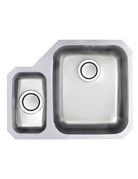 Astracast Edge D1 Polished Stainless Steel Undermount Sink - 1.5 Bowl