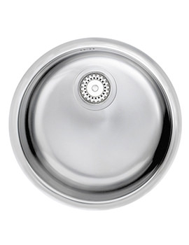 Astracast Onyx Round Polished Stainless Steel Inset Sink - 1.0 Bowl