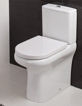 RAK Compact Deluxe Rimless Close Coupled Back To Wall WC Pack 625mm