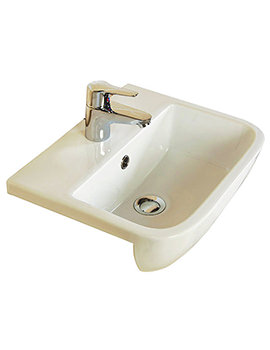 RAK Series 600 520mm 1 Tap Hole Semi Recessed Basin