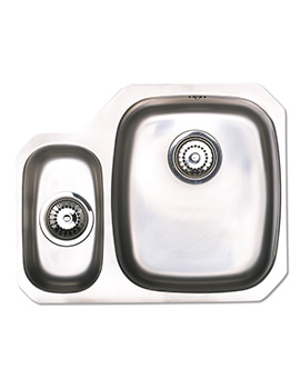 Astracast Opal S3 Polished Stainless Steel Undermount Sink - 1.5 Bowl