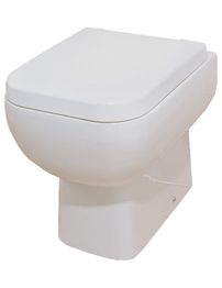 RAK Series 600 Back To Wall WC Pan With Soft Close Seat 480mm