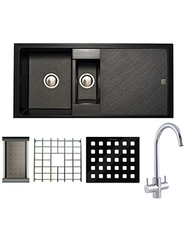 Astracast Contour Composite ROK TEX Inset Sink And Tap Pack - 1.5 Bowl
