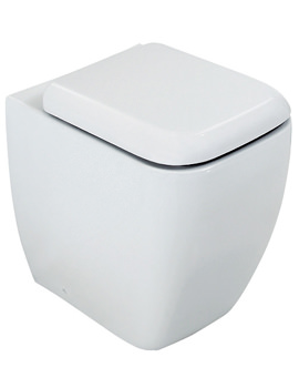 RAK Metropolitan Back To Wall WC Pan With Soft Close Seat - 525mm Projection
