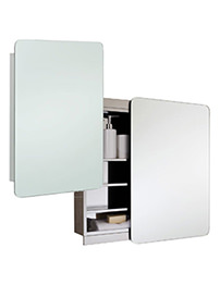 RAK Slide Stainless Steel Sliding Door Mirror Cabinet 500 x 700mm