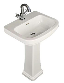 RAK Decor 550mm 1 Tap Hole Basin And Full Pedestal