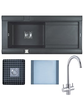 Astracast Geo Composite ROK Metallic Inset Sink And Tap Pack - 1.0 Bowl