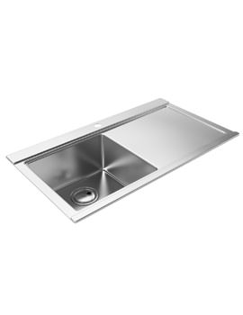 Abode Logik Stainless Steel Kitchen Sink 1.0 Bowl RH Drainer