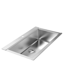 Abode Logik Stainless Steel Large Single Bowl Inset Kitchen Sink