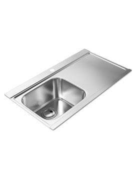 Abode Maxim Stainless Steel Kitchen Sink 1.0 Bowl And Right Hand Drainer