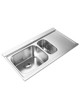 Abode Maxim Stainless Steel Kitchen Sink 1.5 Bowl And Right Hand Drainer