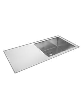 Abode Theorem Stainless Steel Kitchen Sink 1.0 Bowl And Right Hand Drainer