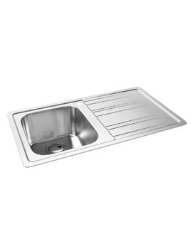 Abode Kode Stainless Steel Kitchen Sink 1.0 Bowl And Right Hand Drainer