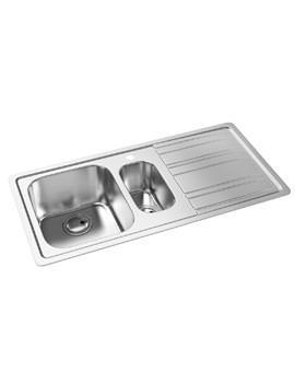 Abode Kode 1.5 Bowl Stainless Steel Kitchen Sink And Right Hand Drainer