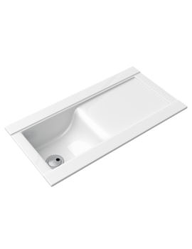Abode Tydal 1.0 Bowl Reversible White Ceramic Kitchen Sink And Drainer