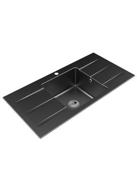 Abode Zero 1.0 Bowl With Double Drainer Granite Kitchen Sink