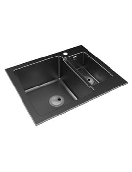 Abode Zero 1.5 Bowl Granite Reversible Inset Kitchen Sink