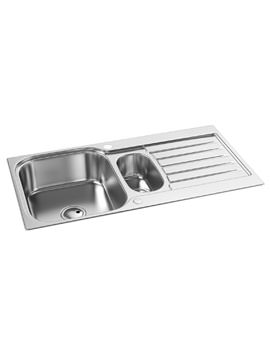 Abode Arka 1.5 Bowl Stainless Steel Kitchen Sink And Drainer Reversible