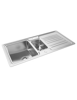 Abode Apex 1.5 Bowl Reversible Stainless Steel Kitchen Sink And Drainer