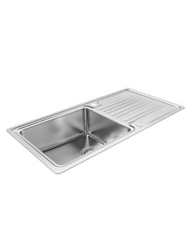 Abode Apex 1.0 Bowl Reversible Stainless Steel Kitchen Sink