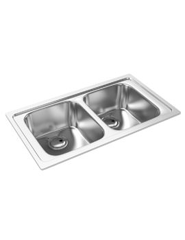 Abode Kode Double Bowl Brushed Stainless Steel Inset Kitchen Sink