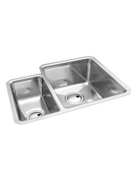 Abode Matrix R25 1.5 Bowl RH Undermount Stainless Steel Kitchen Sink