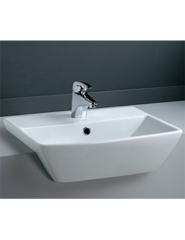 RAK Summit 500mm 1 Tap Hole Semi Recessed Wash Basin